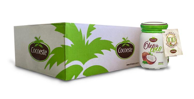 Kit 12 unidades óleo de coco extravirgem 250 mL - Cocoeste