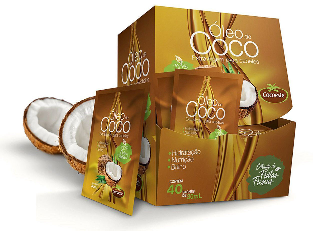 Óleo de coco extravirgem Cocoeste Display 40 sachês 30mL