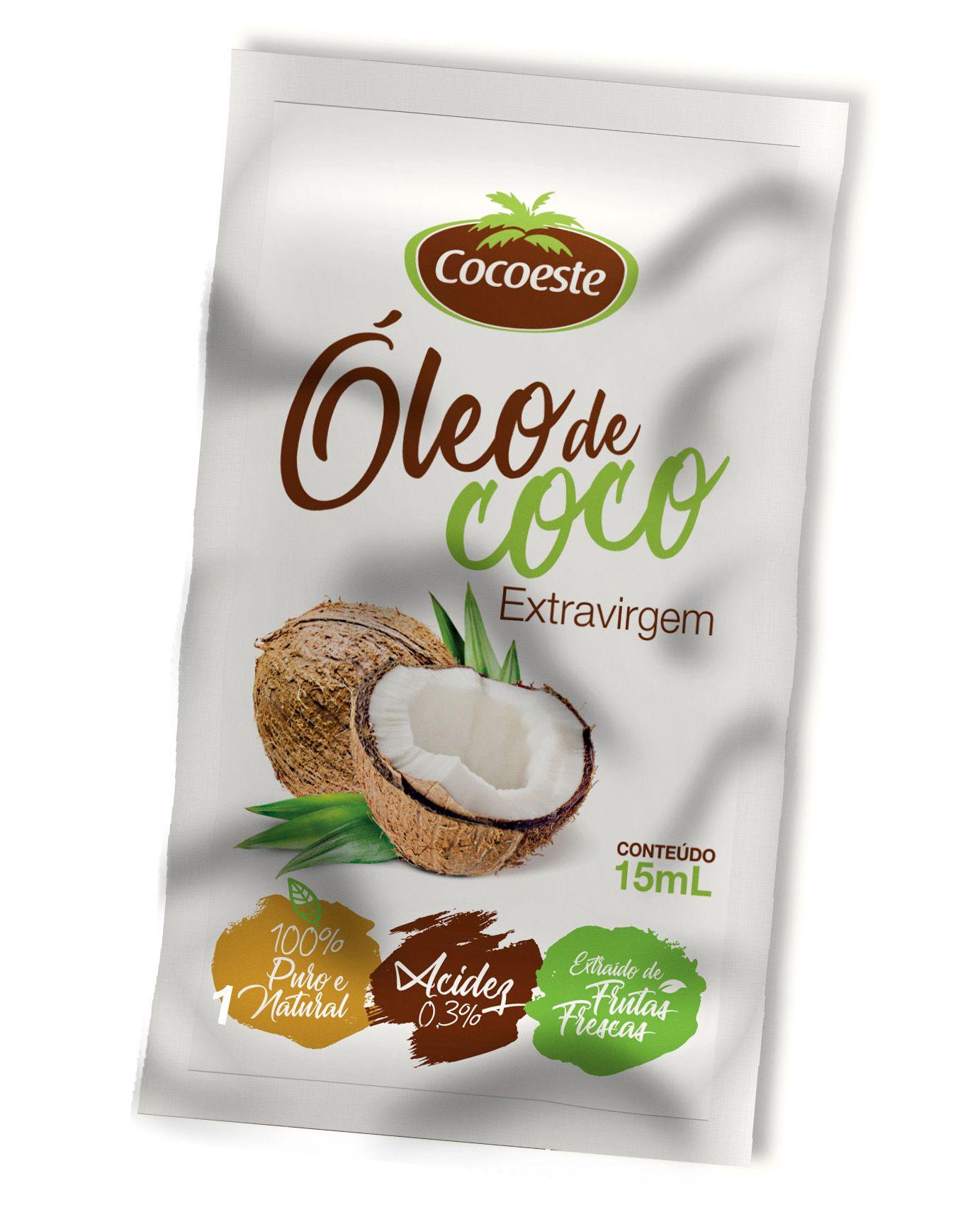 Óleo de coco extravirgem Cocoeste – Sachê 15 mL