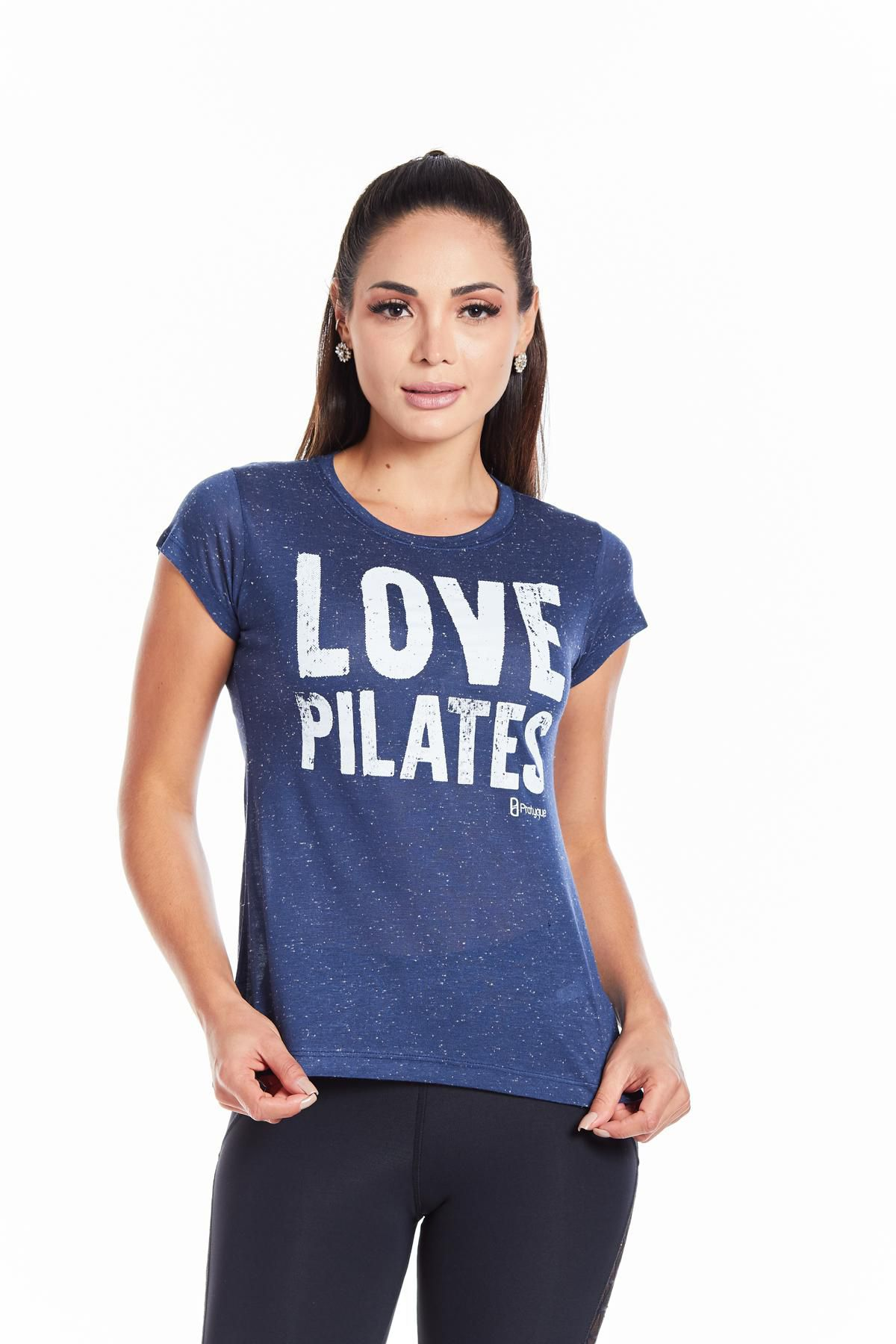 "BABY LOOK BOTONE - ""LOVE PILATES"""
