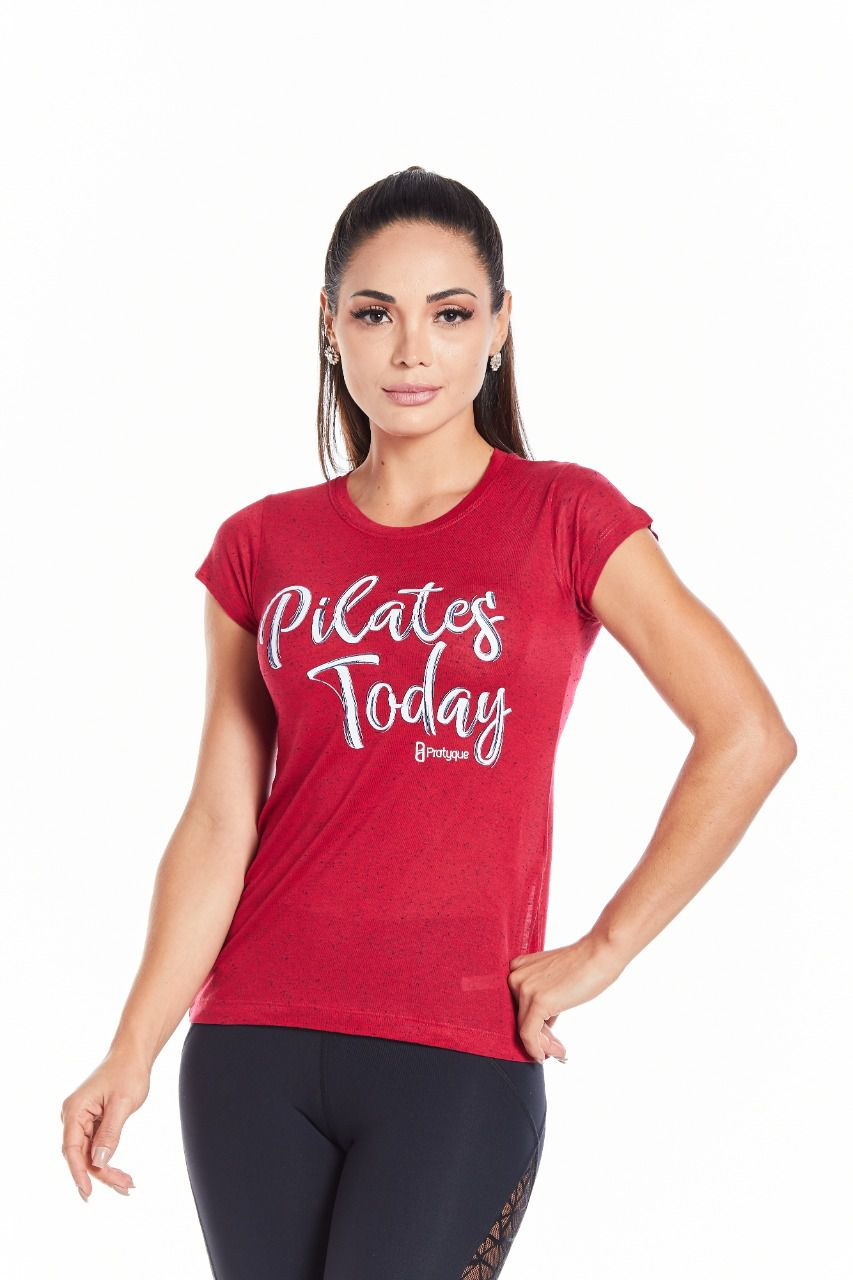 "BABY LOOK BOTONE - ""PILATES TODAY"""