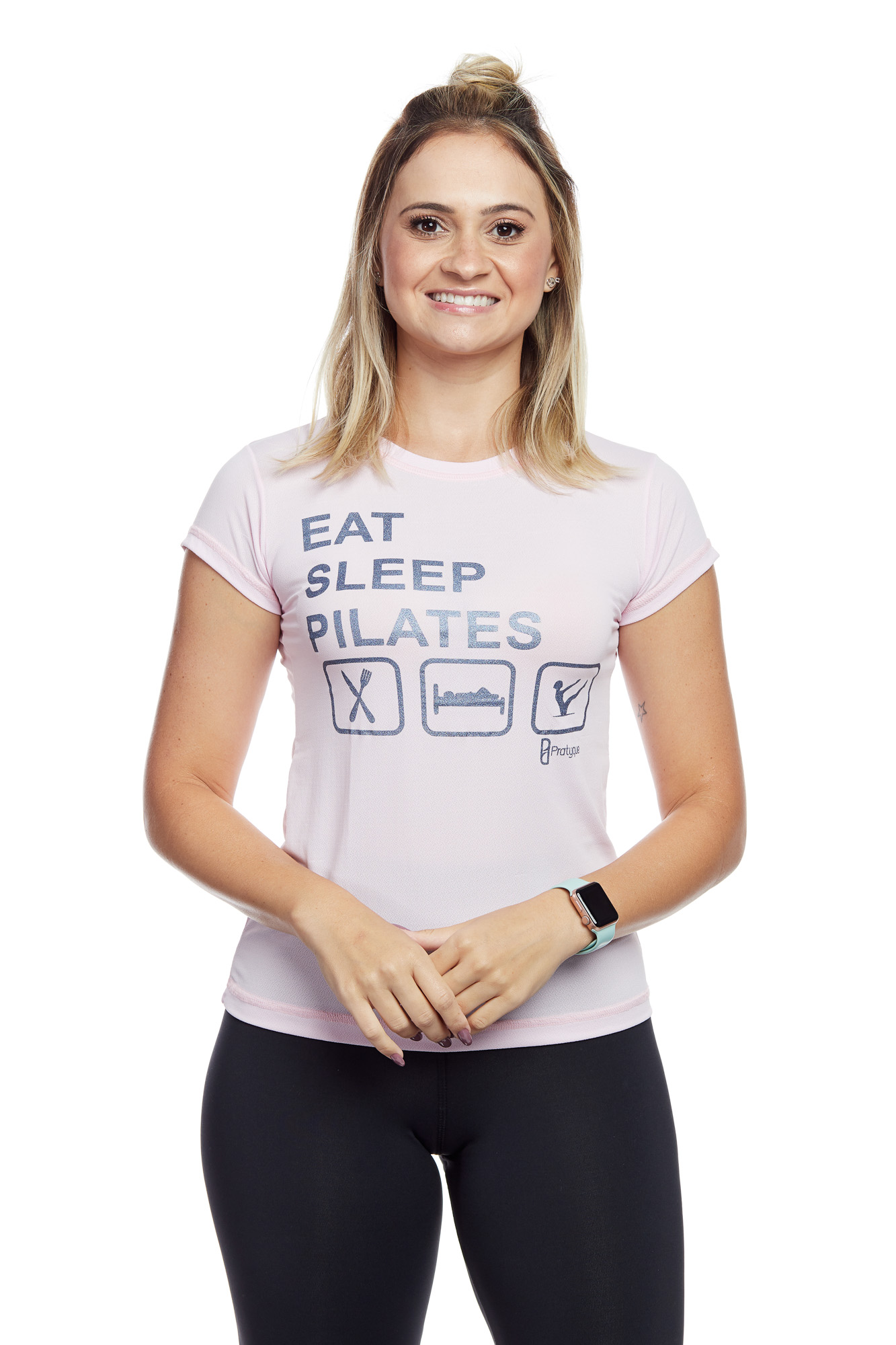 "BABY LOOK PORUS ""EAT SLEEP PILATES"""