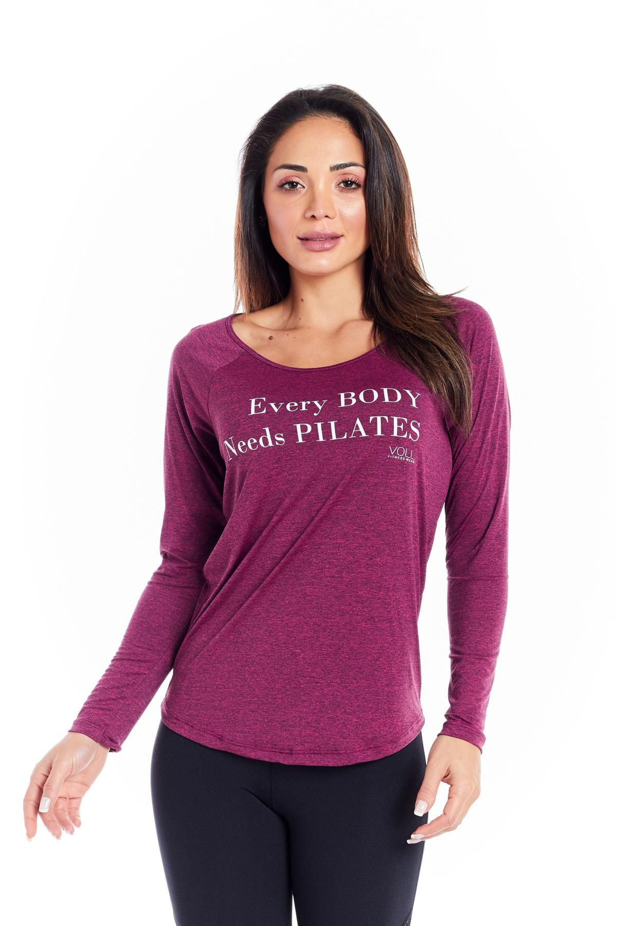 "BLUSA MANGA LONGA - ""EVERY BODY NEEDS PILATES"""