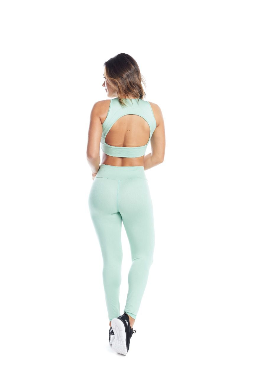 LEGGING GRID MENTA