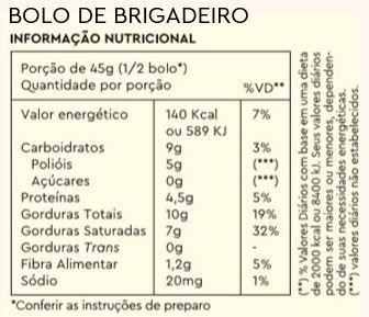 Combo 3 Bolos Brigadeiro + Caneca Brinde