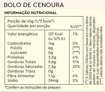 Combo 3 Bolos de Caneca Cenoura + Caneca Brinde