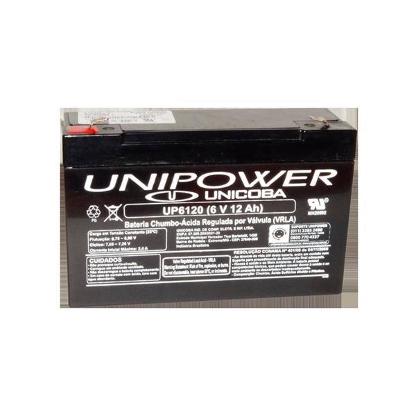 BAT UNIPOWER 6V 12AH F187 (UP6120)