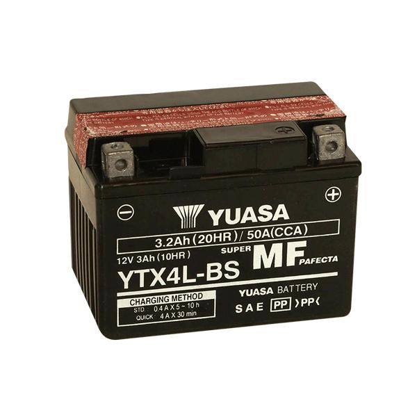 YTX4LBS BATERIA MOTOCICLETA YUASA