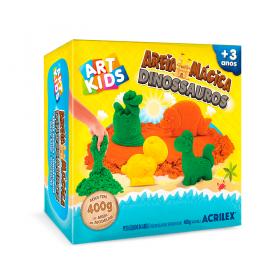 AREIA MÁGICA DINOSSAUROS ACRILEX ART KIDS