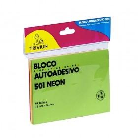 BLOCO ADESIVO TRIVIUM 501 NEON 76MM X 102MM 95 FOLHAS