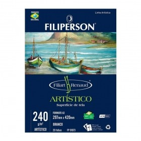 BLOCO DE DESENHO ARTÍSTICO A3 FILIPERSON 240G 20 FOLHAS
