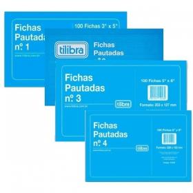 BLOCO DE FICHAS PAUTADAS TILIBRA