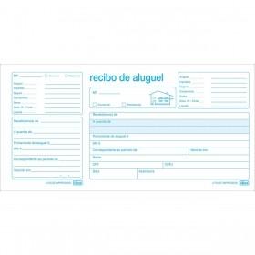 BLOCO DE RECIBO DE ALUGUEL COM CANHOTO TILIBRA 50 FOLHAS 206mm X 105mm
