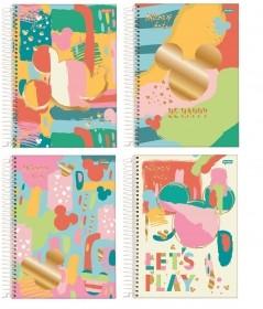 CADERNO UNIVERSITÁRIO MICKEY ARTS 15 MATÉRIAS 240 FOLHAS - CAPAS SORTIDAS