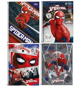 CADERNO UNIVERSITÁRIO SPIDER-MAN 1 MATÉRIA 80 FOLHAS - CAPAS SORTIDAS