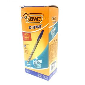 CANETA BIC CRISTAL AZUL BOLD 1.6MM - CAIXA COM 25 UM