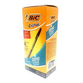 CANETA BIC CRISTAL PRETA BOLD 1.6MM - CAIXA COM 25 UN