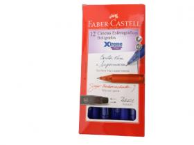 CANETA ESFEROGRÁFICA AZUL FABER-CASTELL XTREME FINE 0,7mm - CAIXA COM 12N
