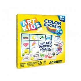 COLOR STICKERS 3D ACRILEX ART KIDS