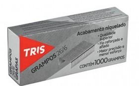 GRAMPOS TRIS GALVANIZADO PARA GRAMPEADOR 26/6 CAIXA COM 5 MIL UNIDADES