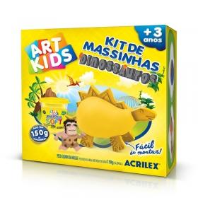 KIT DE MASSINHAS DINOSSAUROS  ACRILEX ART KIDS