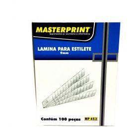 LÂMINAS PARA ESTILETES MASTERPRINT MP453 9MM CAIXA COM 100UN