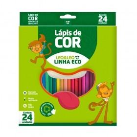 LÁPIS DE COR ECO 24 CORES  LÉO E LÉO
