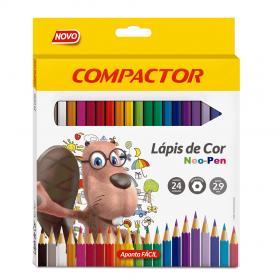 LÁPIS DE COR NEO-PEN 24 CORES COMPACTOR