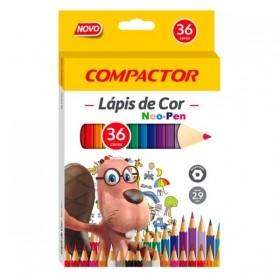LÁPIS DE COR NEO-PEN 36 CORES COMPACTOR