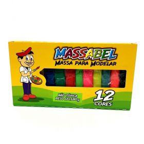 MASSINHA DE MODELAR MASSABEL 12 CORES