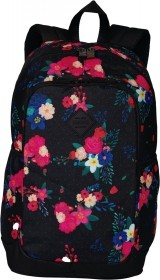 MOCHILA SESTINI MAGIC FLORES PRETO