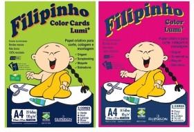 PAPEL CRIATIVO FILIPINHO COLOR LUMI A4 5 CORES