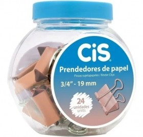 PRENDEDOR METALICO DE PAPEL ROSE GOLD CIS