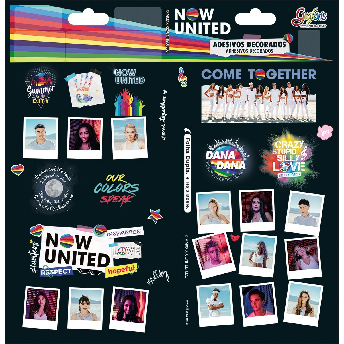 ADESIVO DECORADO DUPLO NOW UNITED