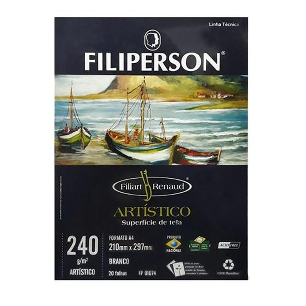 BLOCO DE DESENHO ARTÍSTICO A4 FILIPERSON 240G 20 FOLHAS