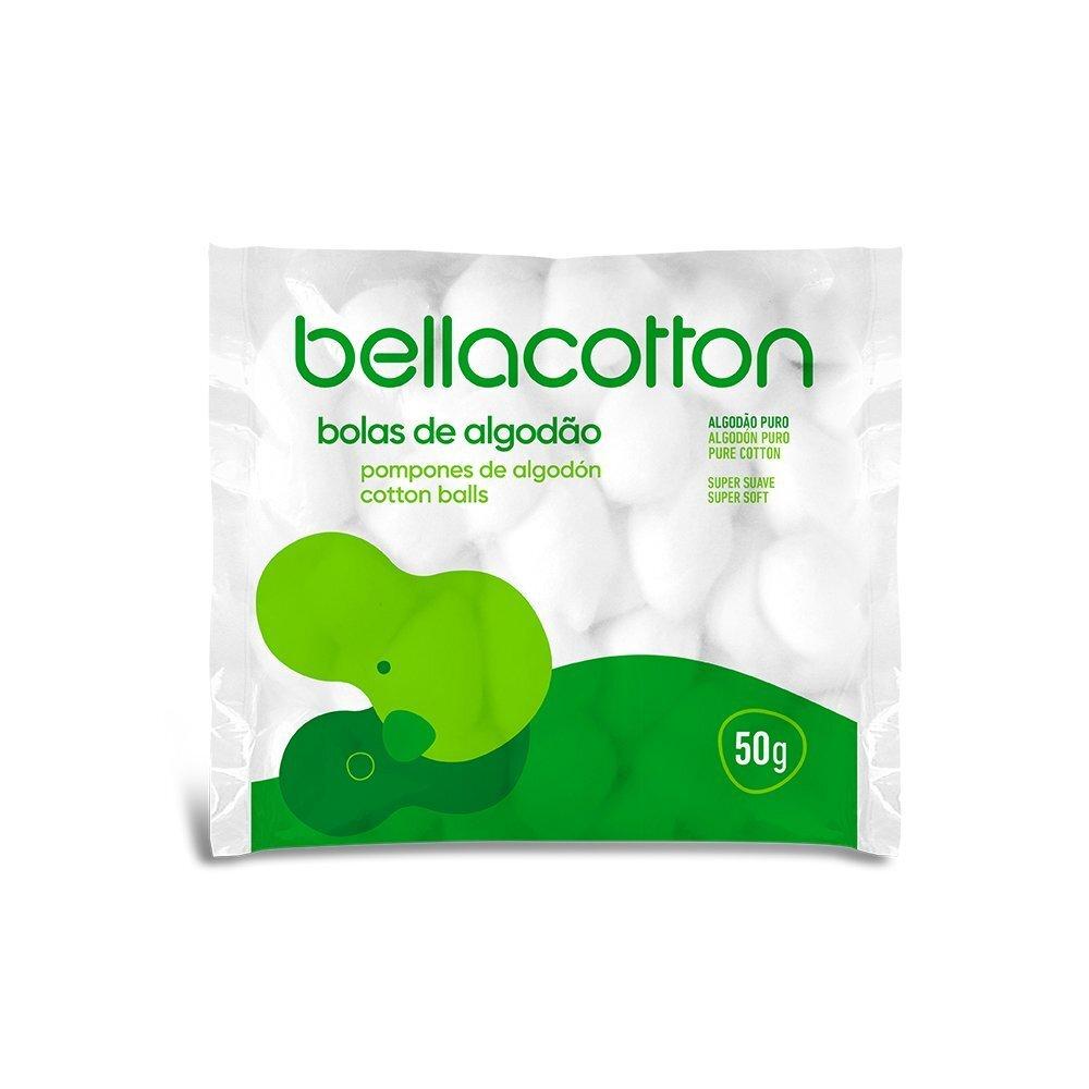 BOLAS DE ALGODÃO BRANCO BELLACOTTON 50G