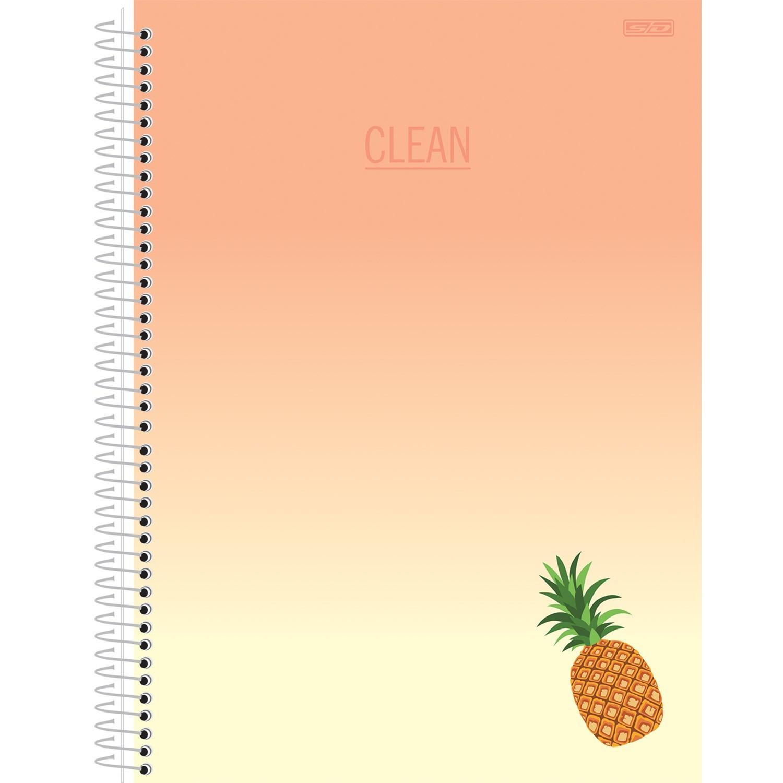 CADERNO 1/4 CAPA DURA ESPIRAL CLEAN - CAPAS SORTIDAS