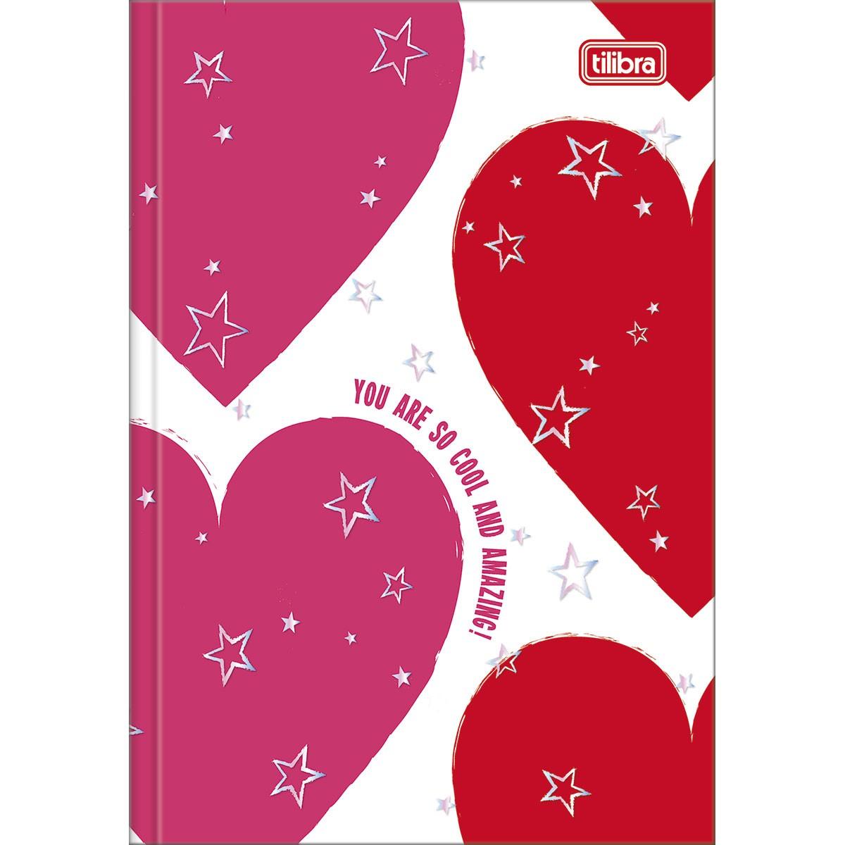 CADERNO CAPA DURA BROCHURA 1/4 LOVE PINK 80 FOLHAS - CAPAS SORTIDAS
