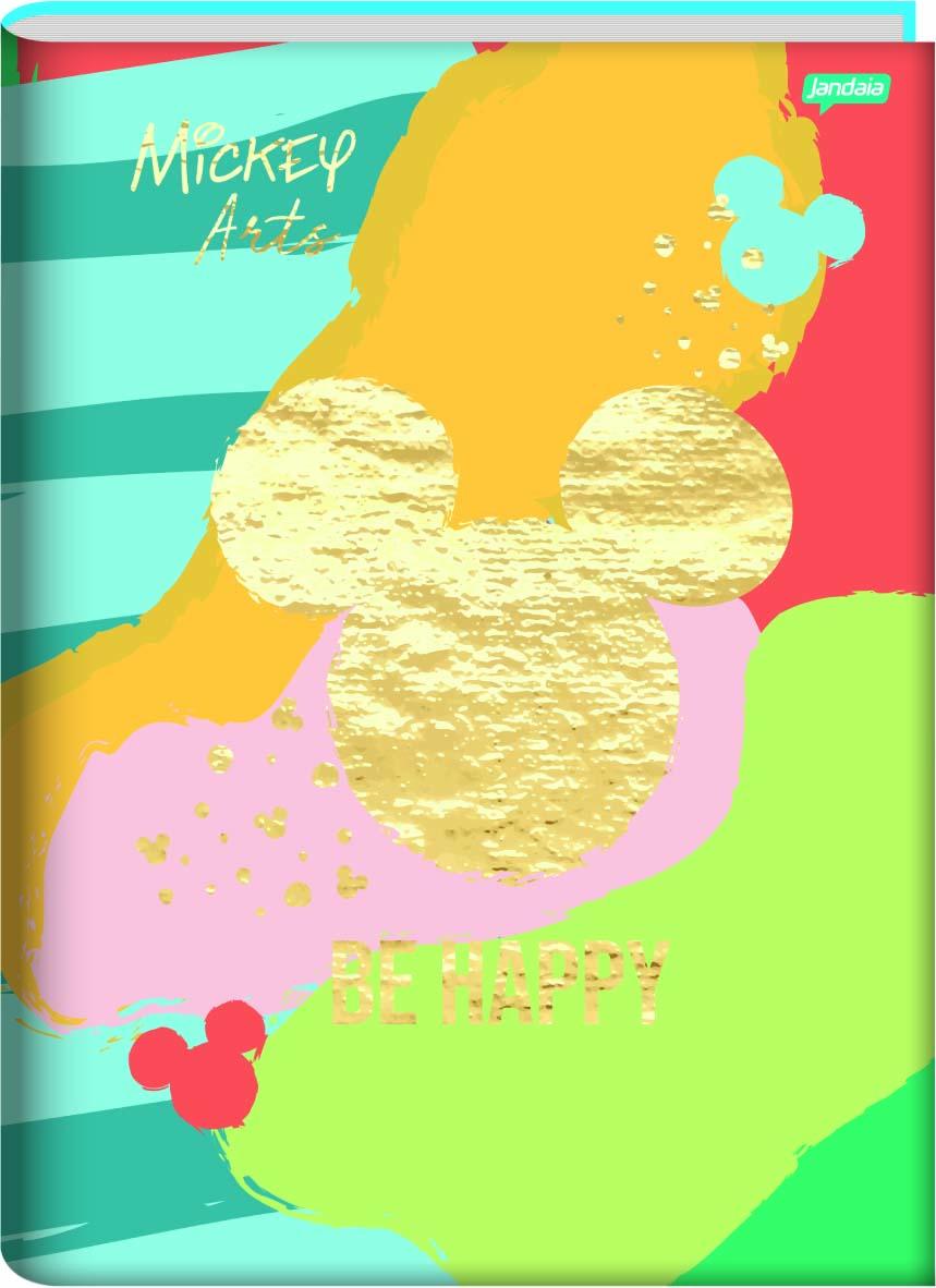 CADERNO CAPA DURA BROCHURA MICKEY ARTS 1/4 80 FOLHAS - CAPAS SORTIDAS