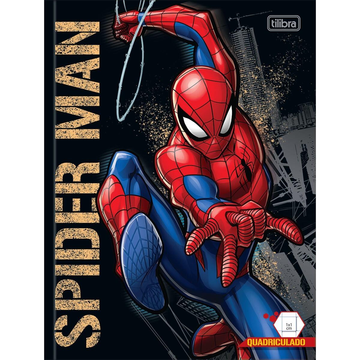 CADERNO QUADRICULADO SPIDER-MAN 40 FOLHAS 1mm X 1mm - CAPAS SORTIDAS