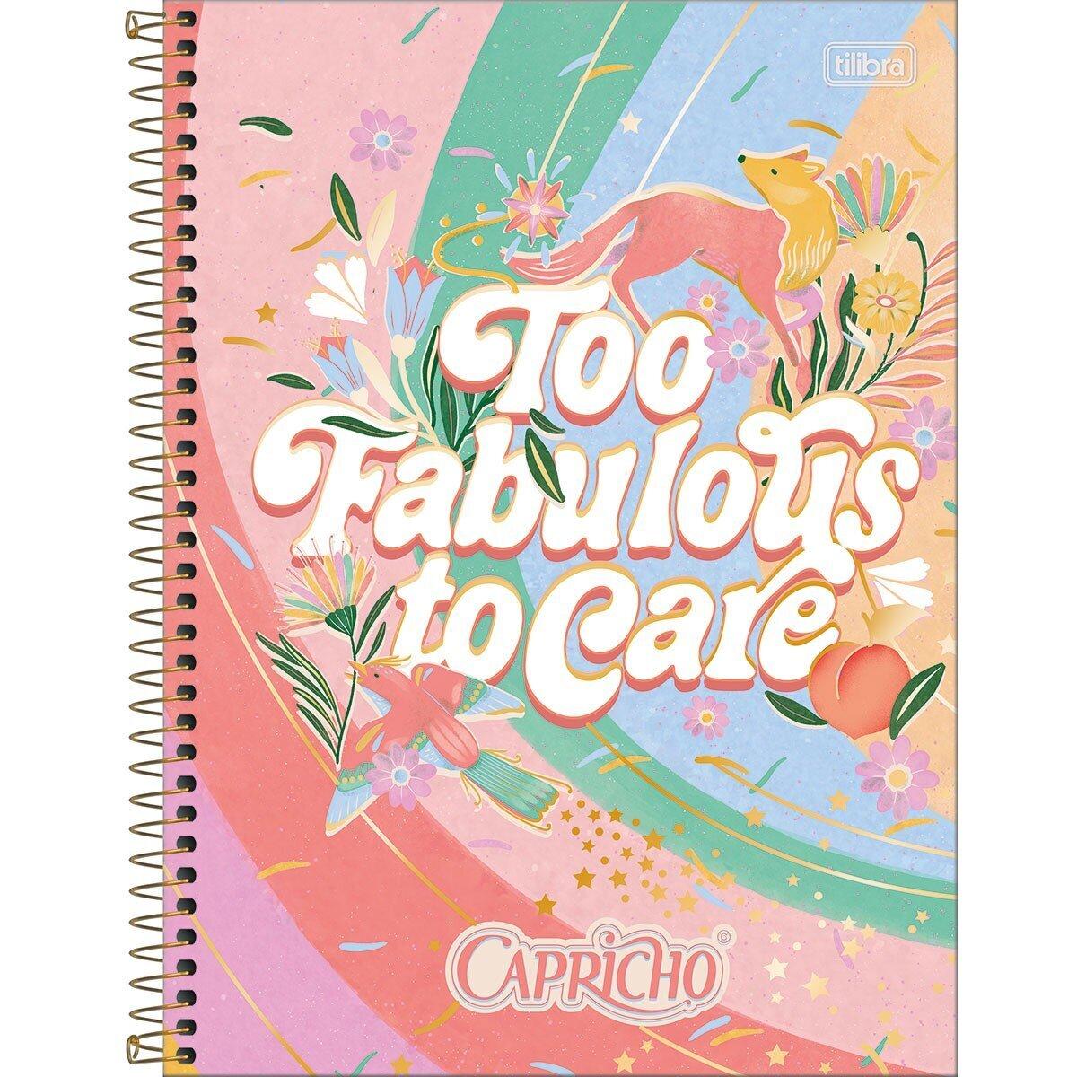 CADERNO UNIVERSITÁRIO CAPRICHO 10 MATÉRIAS 160 FOLHAS - CAPAS SORTIDAS
