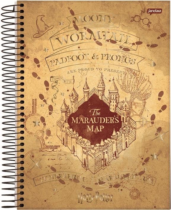 CADERNO UNIVERSITÁRIO HARRY POTTER 1 MATÉRIA 80 FOLHAS - CAPAS SORTIDAS