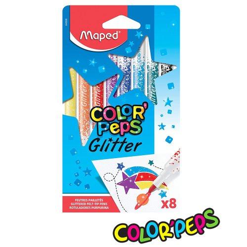 CANETA HIDROGRÁFICA MAPED COLOR PEPS COM GLITTER