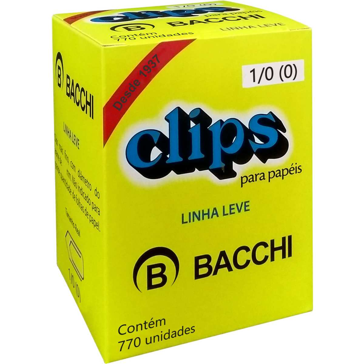 CLIPS METÁLICOS BACCHI Nº 1/0 (0) 770 UN
