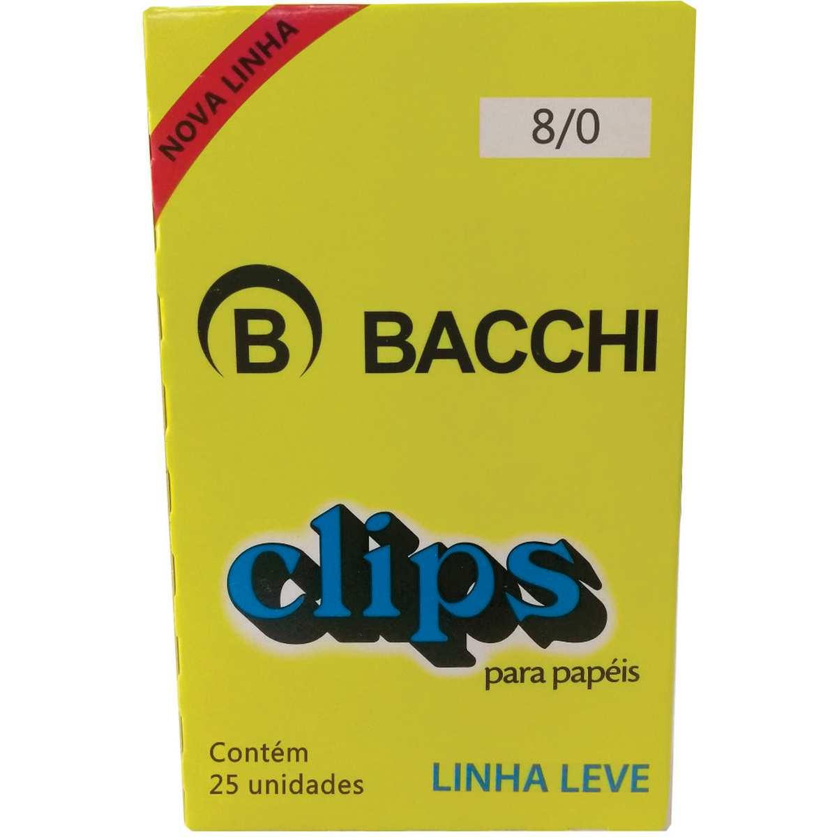 CLIPS METÁLICOS BACCHI Nº 8/0 170UN
