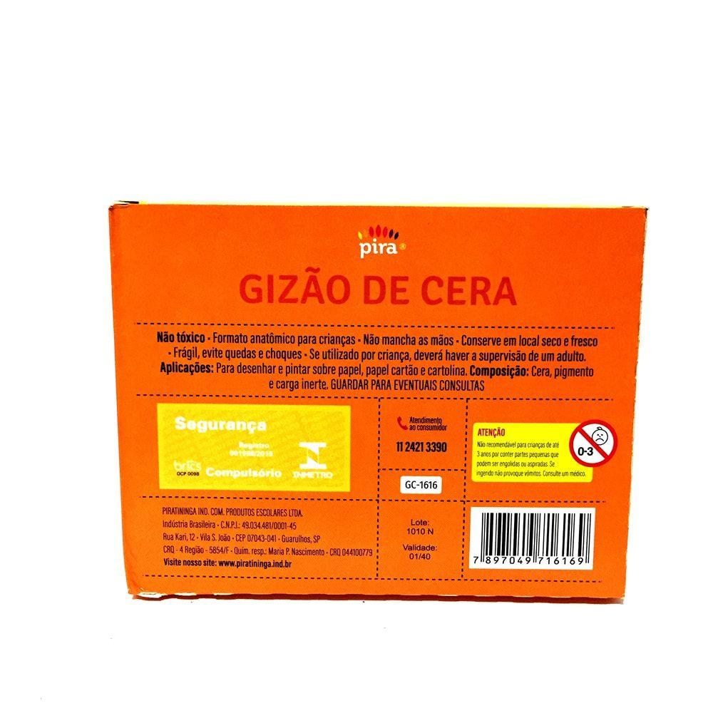 GIZÃO DE CERA  PIRATININGA 12 CORES