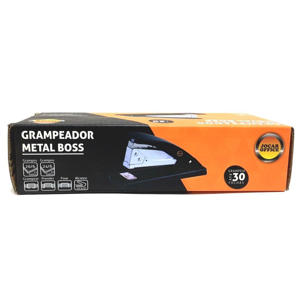 GRAMPEADOR METAL BOSS 30 FOLHAS JOCAR OFFICE