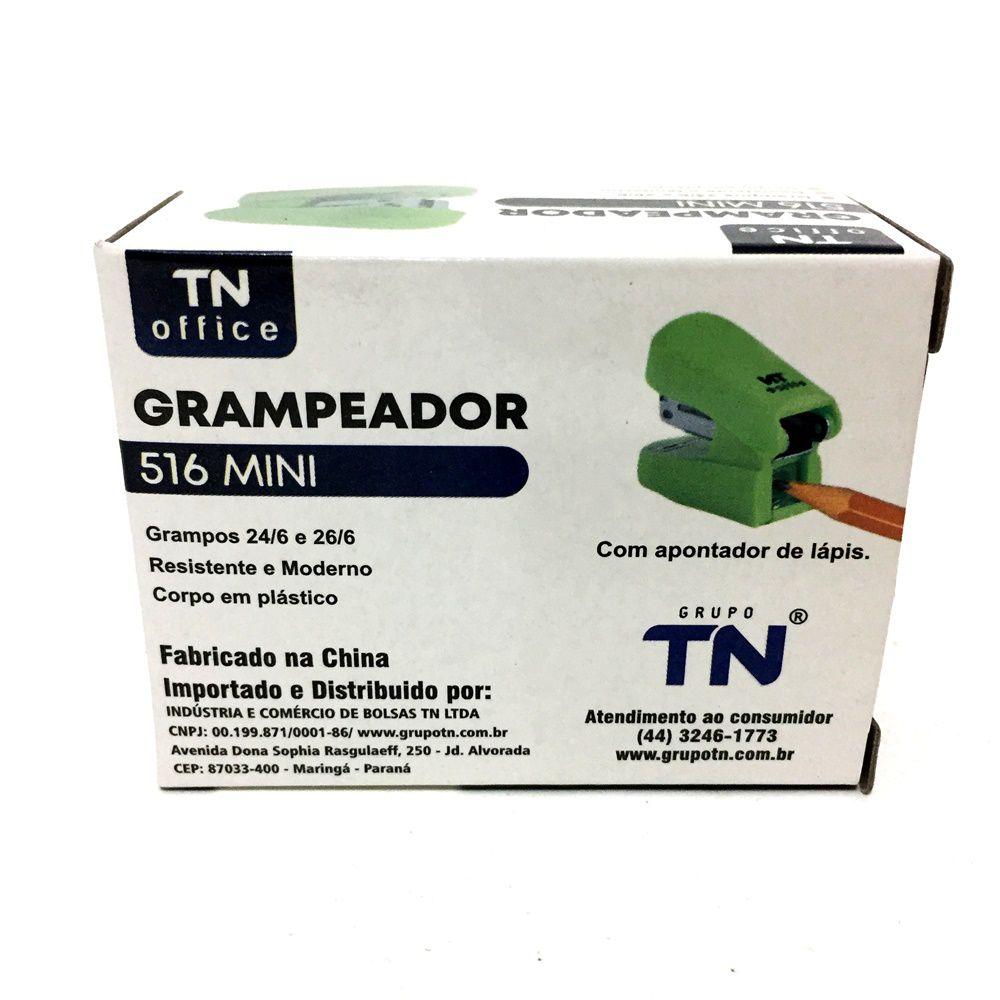 GRAMPEADOR TN OFFICE 516 MINI COM APONTADOR CORES SORTIDAS