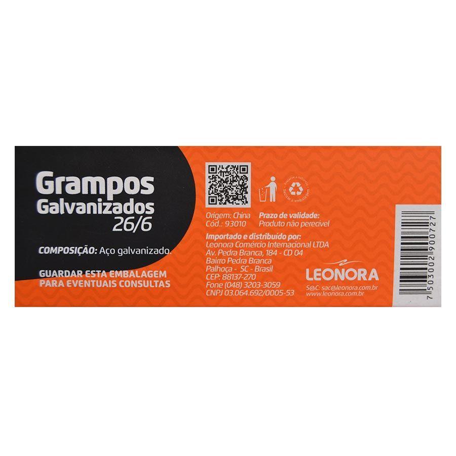 GRAMPOS JOCAR OFFICE GALVANIZADO PARA GRAMPEADOR 26/6 CAIXA COM 5 MIL UNIDADES