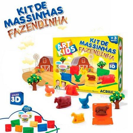 KIT DE MASSINHAS FAZENDINHA ACRILEX ART KIDS